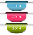 New Year ribbon with 2014 vector image