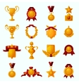 Awards Cartoon Set vector image vector image