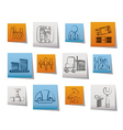 business and factory icons vector image