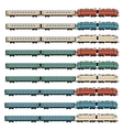 Set of passanger trains vector image