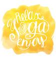 yoga Yellow vector image