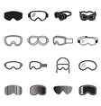 Goggles icons vector image