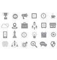 Web gray icons set vector image