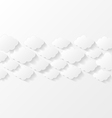 Abstract background with paper clouds vector image