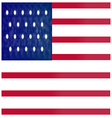 American flag red vector image
