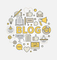 blogging round colorful vector image