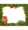 Christmas background FIR branches and Christmas vector image