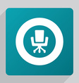flat Office chair icon vector image