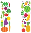 Fruit and vegetable background vector image