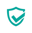 green active protection shield icon on a white vector image