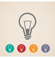 light bulb icons vector image