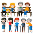 people at different ages vector image