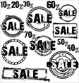 Sale stamps vector image