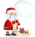 Santa Claus checking his list vector image