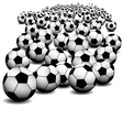 soccer ball on perspective vector image