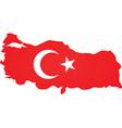 Turkey map vector image