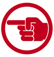 finger pointing symbol vector image