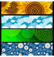 Set colorful bright banners vector image vector image