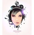Abstract Cartoon of a Lady vector image
