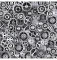 metal realistic cogwheel background vector image