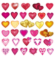 Set of heart for Valentine wedding birthday vector image