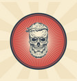 vintage badge sticker sign with hipster vector image
