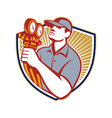 Refrigeration Air Conditioning Mechanic Shield vector image