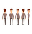 set of male characters man boy person user vector image
