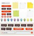 GPS Navigation And Website Elements vector image vector image