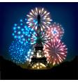 bastille day fireworks vector image