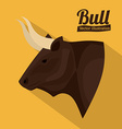 Bull design vector image