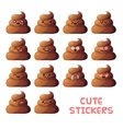 Cute poops set vector image
