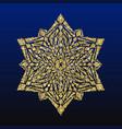gold glitter snowflake christmas card vector image