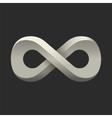 Infinity symbol Conceptual icon Logo template vector image