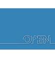 open text design vector image