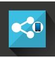 smartphone share social network media icon vector image
