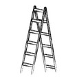 step ladder tool vector image