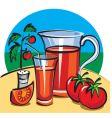 tomato juice vector image