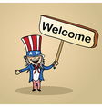Welcome to USA people vector image
