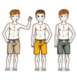 cute happy young teen boys posing wearing vector image