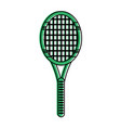 tennis racquet icon image vector image