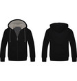 black hooded sweater vector image