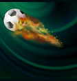 burning sport football icon vector image vector image