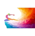 Creative silhouette of gymnastic girl on vector image
