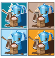 classic coffee set vector image