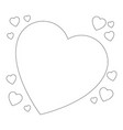 isolated cute big heart vector image
