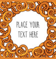 template with many pretzels vector image
