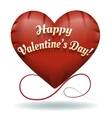 The toy Happy Valentines Day heart vector image