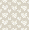 Seamless pattern hand-stitched heart on dark vector image