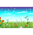 meadow with butterfly vector image vector image